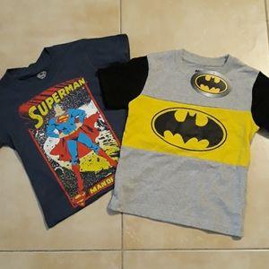 DC Comics superhero t-shirts boys size 4T/small